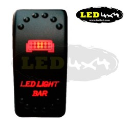 Interruptor tipo ARB luz roja LED LIGHT BAR - IP68
