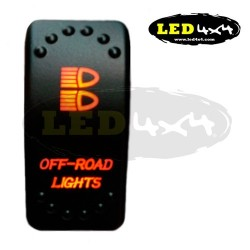 Interruptor tipo ARB luz naranja OFF-ROAD LIGHTS - IP68