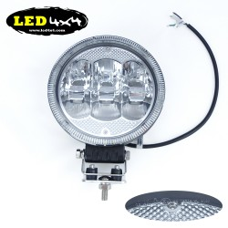 "Faro led 60W largo alcance 7"" homologado HR 25"