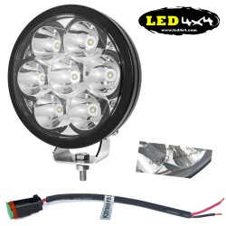"Faro led 70W largo alcance 7"" homologado HR 12.5"