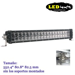 Barra led 120W largo alcance HOMOLOGADA HR 30 Recta de 22""