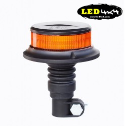 Faro rotativo destellante mini led base flexible Homologado R65 y R10