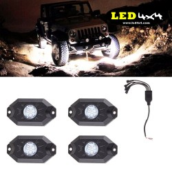 Kit 4 luces led IP68 a prueba de rocas
