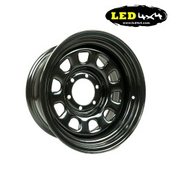 Daytona black steel wheel 7x16 6x139,7 ET-20