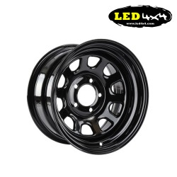 Daytona black steel wheel 7x15 5x139,7 ET-30