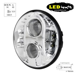 "7 ""chrome led headlight ECE R10 R112 R7 approved"