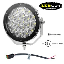 "Faro led 90W largo alcance 7"" homologado HR 17.5"